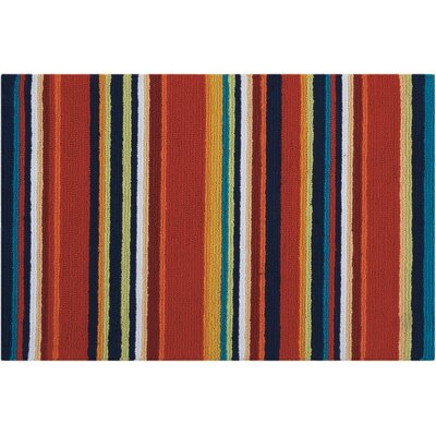 Frieda Hand-Tufted Red Area Rug Rug Size: Runner 110 x 46
