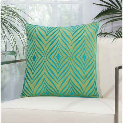 Dillsboro Wild Chevron Outdoor Acrylic Throw Pillow Color: Green / Turquoise