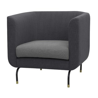 Harrington Barrel Chair Upholstery: Pewter Gray