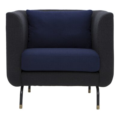 Harrington Barrel Chair Upholstery: Navy Blue