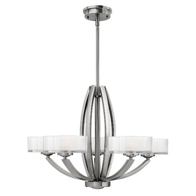 Lutz 5-Light Drum Chandelier Finish: Brushed Nickel