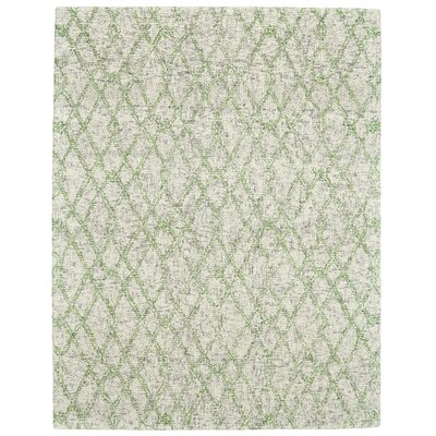 Vargas Hand-Tufted Verde Area Rug Rug Size: Rectangle 36 x 56