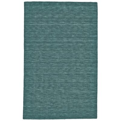 Lawrence Hand-Tufted Teal Area Rug Rug Size: 2 x 3