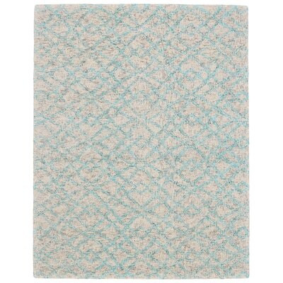 Vargas Hand-Tufted Aqua Area Rug Rug Size: Rectangle 5 x 8