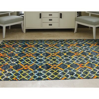Sanford Hand-Tufted Amber Area Rug Rug Size: Rectangle 56 x 86