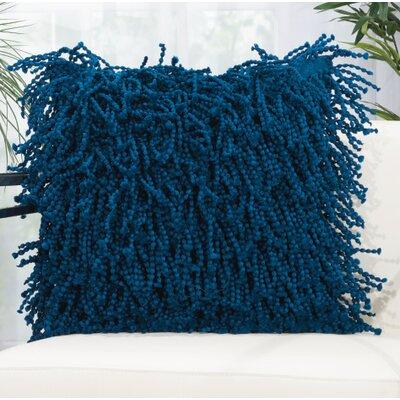 Schofields Shag Throw Pillow Color: Navy