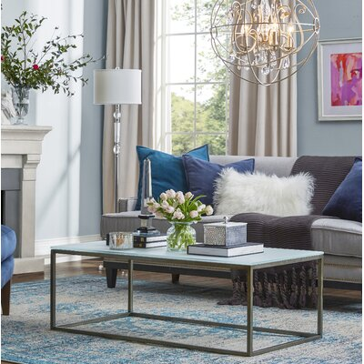 Alfreda Rectangular Coffee Table Top Finish: Frosted Glass