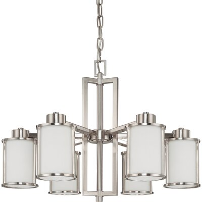 Floyd 6-Light Shaded Chandelier Finish: Brushed Nickel