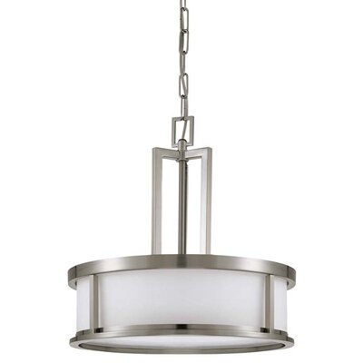 Floyd 4-Light Drum Pendant Energy Star: No, Finish: Brushed Nickel