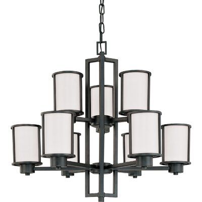Floyd 9-Light Shaded Chandelier