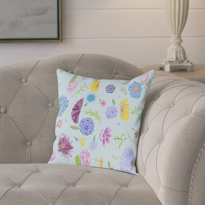 Atkins Spring Dance Outdoor Throw Pillow Size: 16 H x 16 W x 2 D, Color: Teal