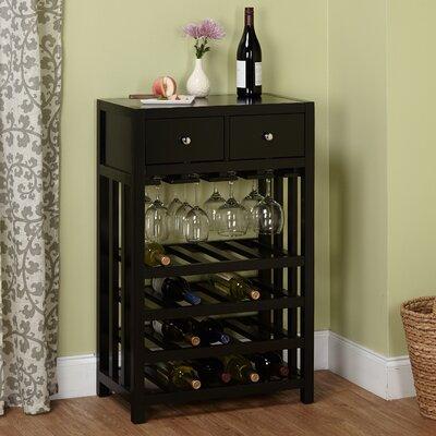 Whitney Tower 20 Bottle Floor Wine Cabinet Finish: Black