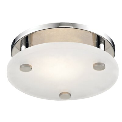 Owen 1-Light LED Flush Mount Finish: Polished Nickel