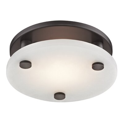 Owen 1-Light LED Flush Mount Finish: Old Bronze