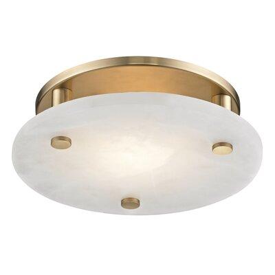 Owen 1-Light LED Flush Mount Finish: Aged Brass