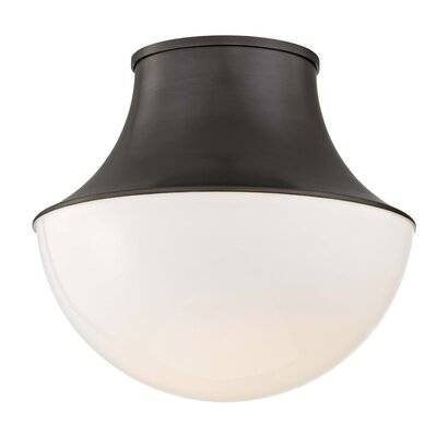 Collier 1-Light LED Flush Mount Finish: Old Bronze