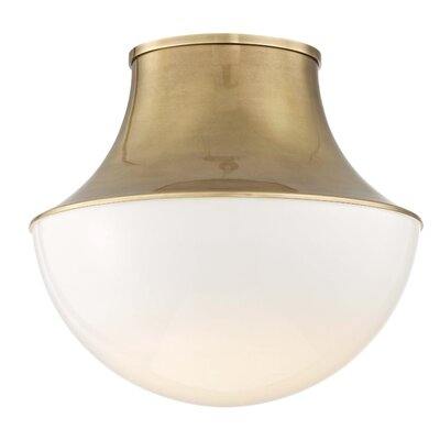 Collier 1-Light LED Flush Mount Finish: Aged Brass