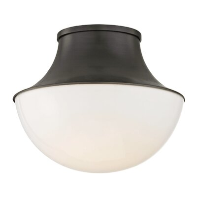 Collier 1-Light LED Flush Mount Finish: Old Bronze