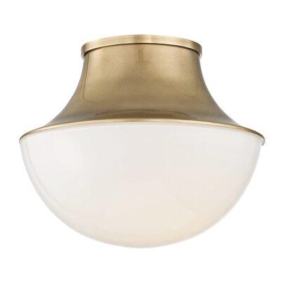Collier 1-Light LED Flush Mount Finish: Aged Brass
