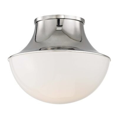 Collier 1-Light LED Flush Mount Finish: Polished Nickel