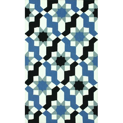 Pennington Blue Metro Ikat Area Rug Rug Size: 76 x 96