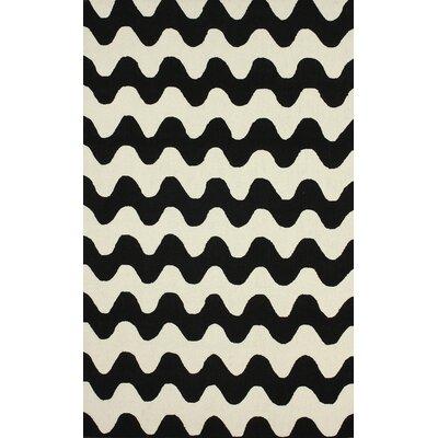 Pennington Black Flourish Rug Rug Size: 76 x 96