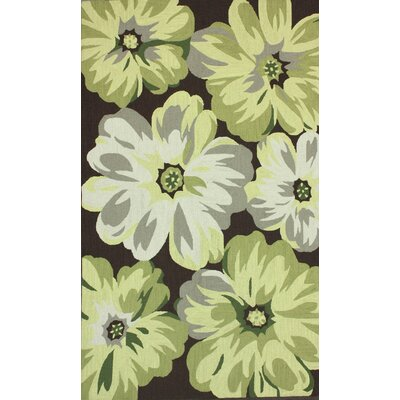 Pennington Bloom Buds Hand-Hooked Yellow Area Rug Rug Size: 5 x 8