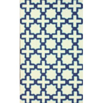 Stafford Hand Hooked Ivory Area Rug Rug Size: Rectangle 76 x 96