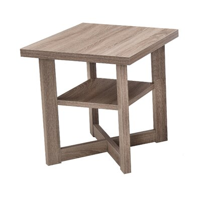 Simmons Casegoods Daisy End Table Color: Aged Driftwood