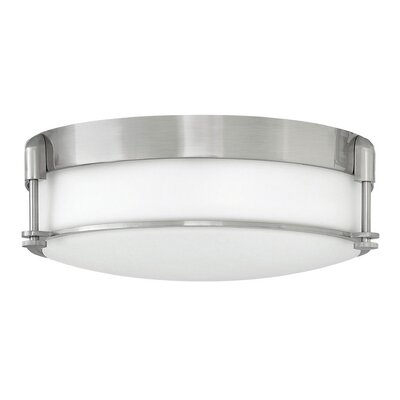 Mcfarland 3-Light Flush Mount Finish: Brushed Nickel