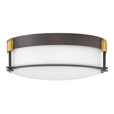 Mcfarland 3-Light Flush Mount Finish: Oil Rubbed Bronze