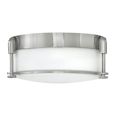 Mcfarland 2-Light Flush Mount Finish: Brushed Nickel