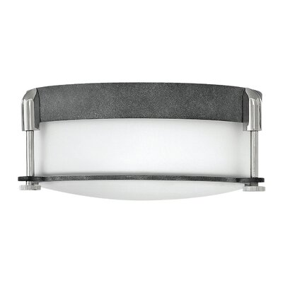 Mcfarland 2-Light Flush Mount Finish: Aged Zinc
