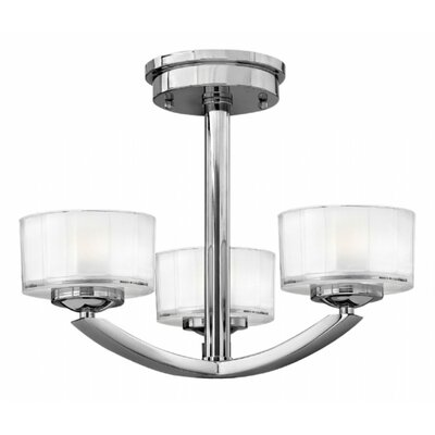 Lutz 3-Light Semi Flush Mount