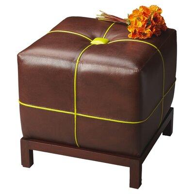 Rachelle Cube Leather Ottoman