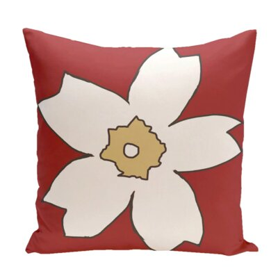Hawkesbury Outdoor Throw Pillow Color: Red / Beige, Size: 20 H x 20 W x 1 D