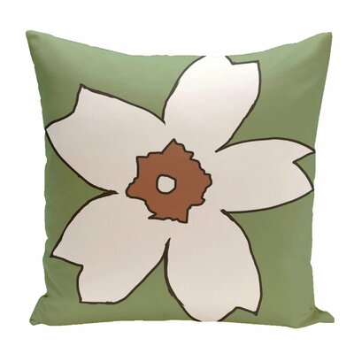 Hawkesbury Floral Outdoor Throw Pillow Size: 20 H x 20 W x 1 D, Color: Green / Brown