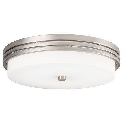 McKay 1-Light LED Flush Mount Finish: Brushed Nickel