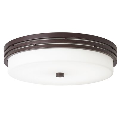 McKay 1-Light LED Flush Mount Finish: Olde Bronze