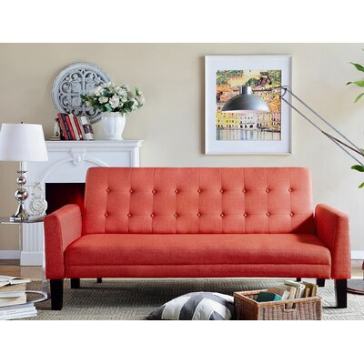 Greg Tufted Sleeper Sofa Upholstery: Zuma Atomic