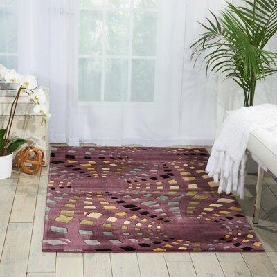 Adelina Chocolate Area Rug Rug Size: 36 x 56