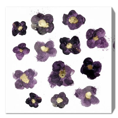 Her Garden Amethyst Painting Print on Wrapped Canvas Size: 12