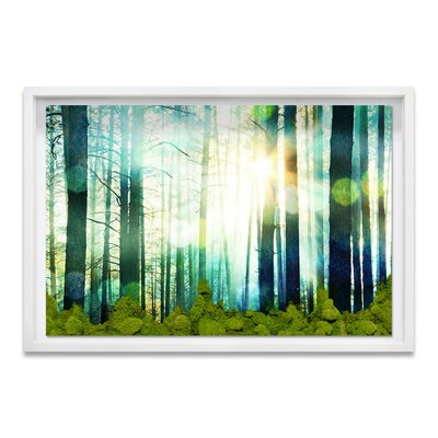Live Breathe Deep Moss Framed Photographic Print