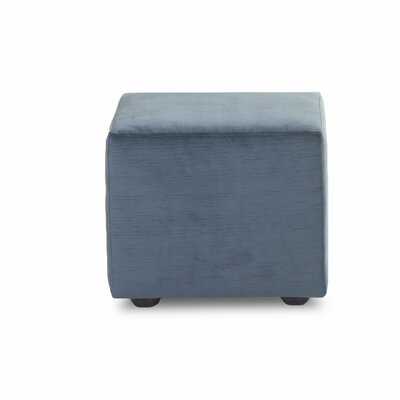 Cochran Cube Ottoman Upholstery: Empire Azure