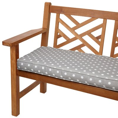 Soft Outdoor Bench Cushion Size: 48 W x 19 D, Fabric: Dots Grey