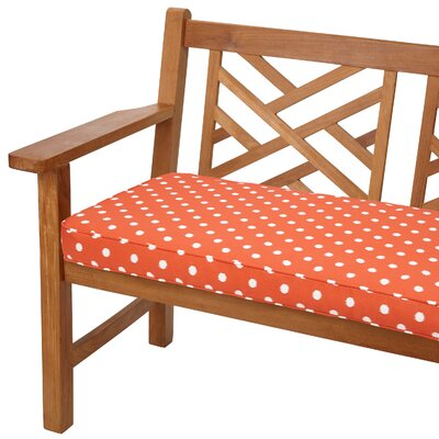 Soft Outdoor Bench Cushion Size: 60 W x 19 D, Fabric: Orange