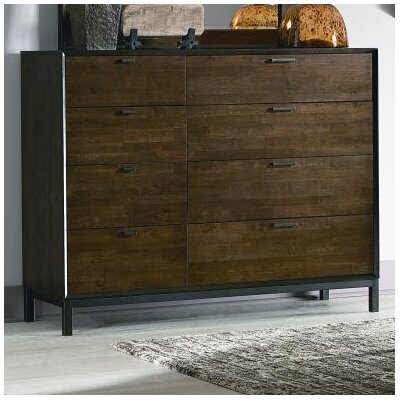 Augustus 8 Drawer Dresser with Mirror