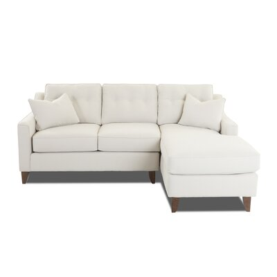 Silvia Small Sectional Upholstery: Oakley Ivory, Orientation: Right Hand Facing