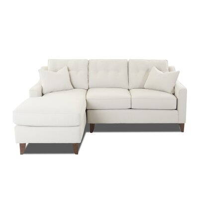 Silvia Small Sectional Upholstery: Amigo Dove, Orientation: Right Hand Facing