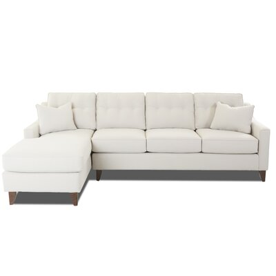 Pardo Large Sectional Upholstery: Oakley Ivory, Orientation: Left Hand Facing